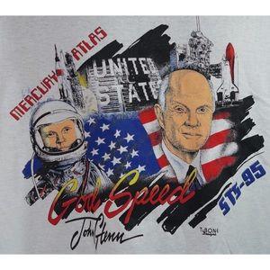 Mercury Atlas STS-95 John Glenn God Speed T-Shirt